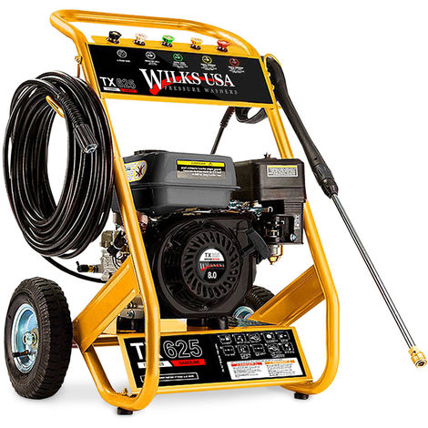 Wilks-USA TX625i - 3950psi / 272bar 8hp Heavy-Duty Petrol Pressure Washer - Power Jet Cleaner