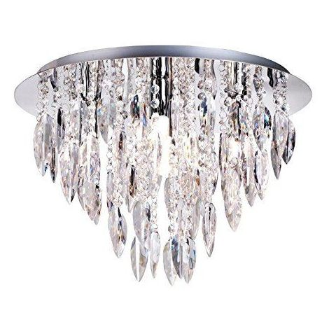 Willazzo 5 Light Round Clear Chandelier Flush Ceiling Light