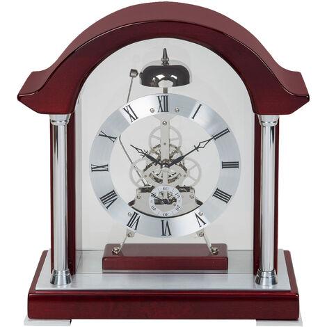 WILLIAM WIDDOP Piano Finish Wood Bell Strike Mantel Clock