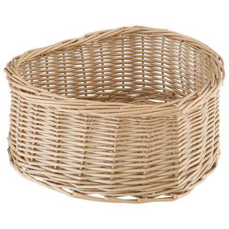 Willow basket,heart shape,grey