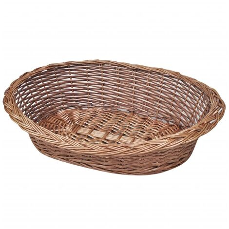 Willow Dog Cat Kitten Puppy Rabbit Basket/Pet Bed Sleep Natural 50/70/90 cm
