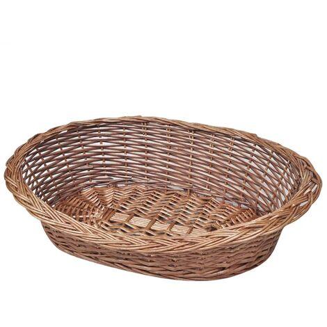 Willow Dog Cat Kitten Puppy Rabbit Basket/Pet Bed Sleep Natural 50/70/90 cm