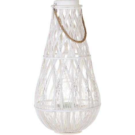 Willow Lantern Tall White TONGA