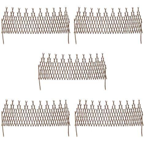Willow Trellis Fence 5 pcs 170x55 cm