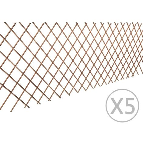 Willow Trellis Fence 5 pcs 180x90 cm