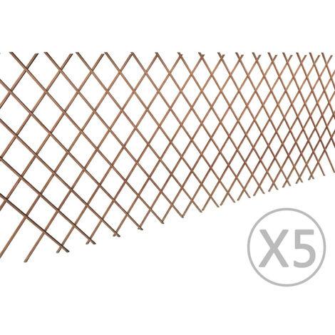 Willow Trellis Fence 90 x 180 cm 5 pcs
