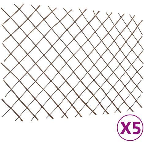 Willow Trellis Fences 5 pcs 180x120 cm