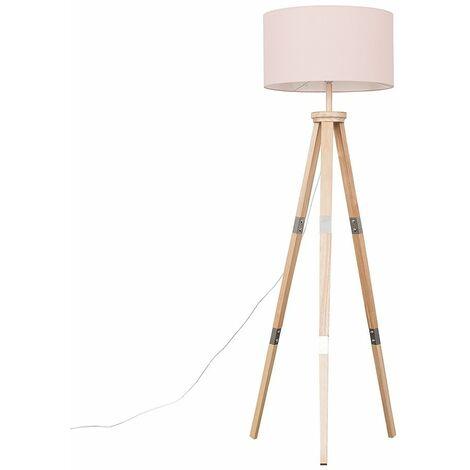 Willow Tripod Floor Lamp In Light Wood - Cool Grey - Brown