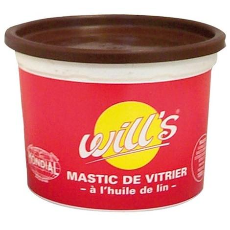 WILL'S - Mastic vitrier à l'huile de lin - acajou - 500 g