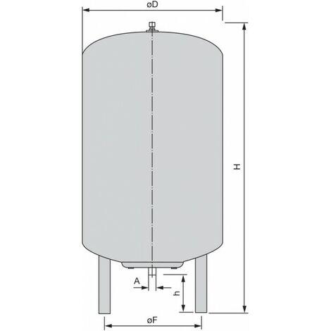 """Wilo Membrandruckbehälter Typ DE PN 10 300DE 1 1/4""""-""""41051272"""""""