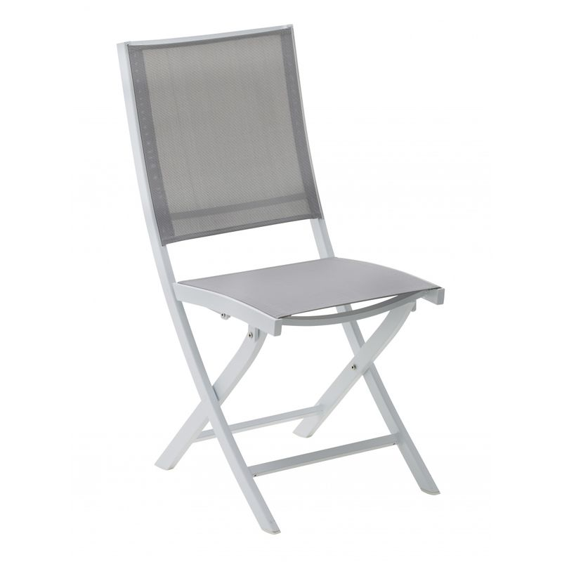 Chaise pliante Whitestar Blanc / Gris - Wilsa Garden