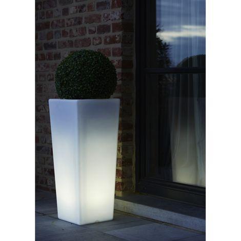 Wilsa Garden Pot lumineux rectangulaire taille L