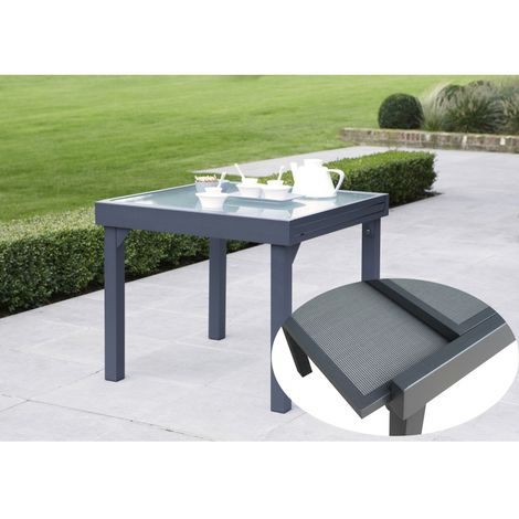 Wilsa Garden Table 90/180 Modulotex 4 Deco textile gris