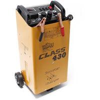 WilTec Chargeur de Batterie Moto Voiture Auto rapide - Class Boost 430 - Batteries 12V et 24V
