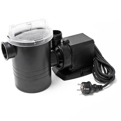 WilTec Swimming Pool Circulation Pump 8500 l/h 120 W with Filter ECO CPP-14000F