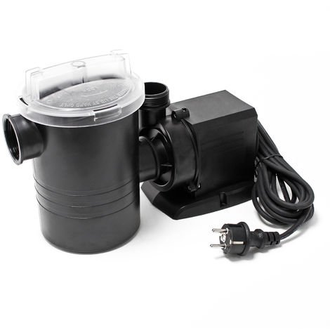 WilTec Swimming Pool Circulation Pump 9000 l/h 140 W with Filter ECO CPP-16000F