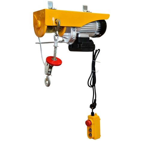 WinchPro - 220V Electric Hoist, 400/800Kg Capacity, 1450W Motor Power, Max. Lifting Height 12M, Robust Construction, Steel Rope Diameter 6mm