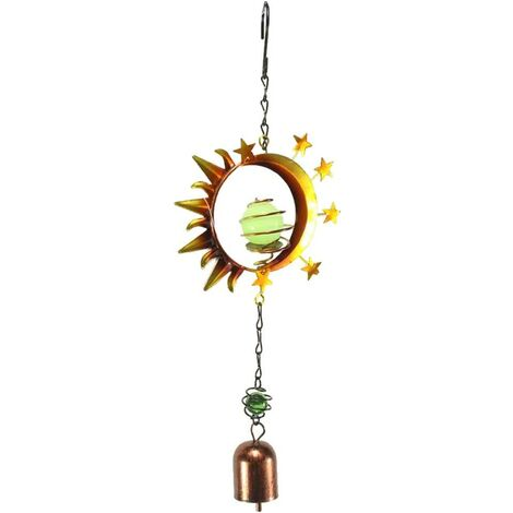 Wind Chime Metal Rotation Windmill Decor Hanging Garden - Sun