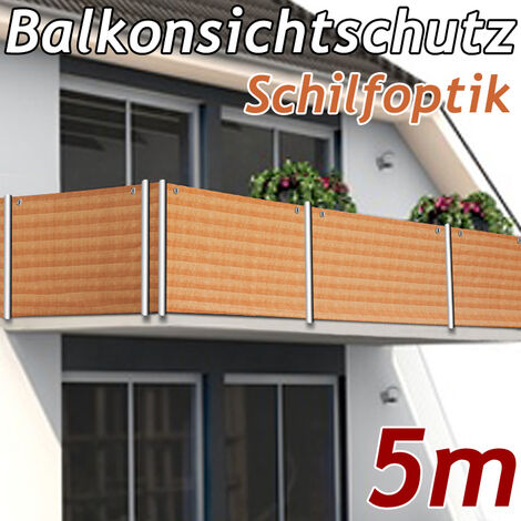 Wind Privacy Protection for Balcony 5m 16ft Stone Look