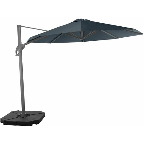 Wind-resistant 3m Belveo by Easywind cantilever parasol - Zonda, Colour: Grey