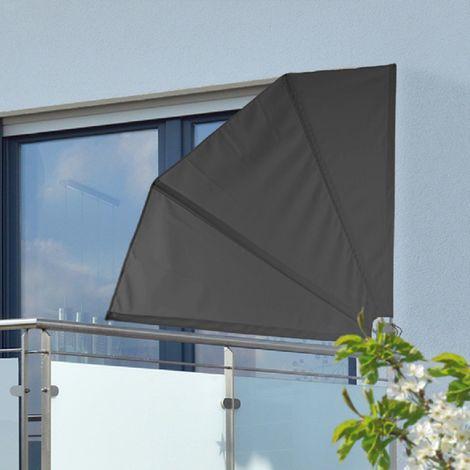 Wind- und Sichtschutz für Balkon, grau