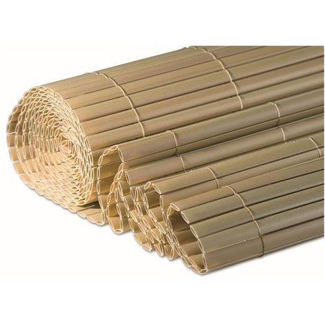 WINDHAGER Brise-vue canisse plastique - 1,2 x 3 m - Stable aux UV et intempéries - Bambou