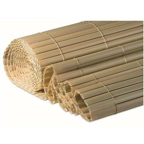 WINDHAGER Brise-vue canisse plastique - 1,5 x 3 m - Stable aux UV et intempéries - Bambou
