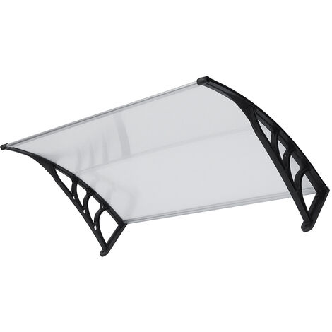 Window Awning Cover Front Door Outdoor Patio Canopy Sun Shelter Roof Protection 120X75CM