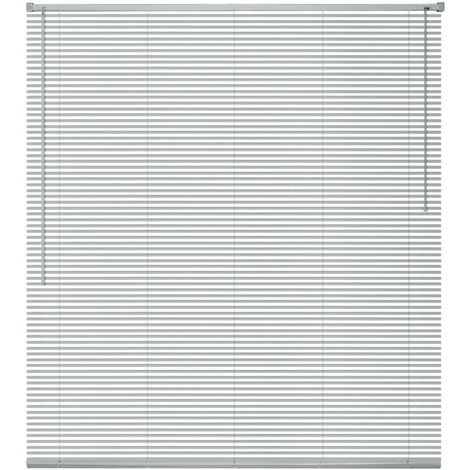Window Blinds Aluminium 100x130 cm Silver