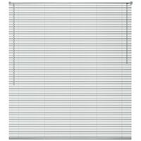 Window Blinds Aluminium 100x130 cm Silver