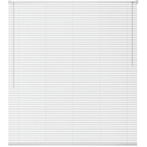 Window Blinds Aluminium 140x160 cm White