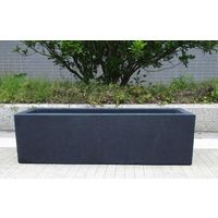 Window Box Light Concrete Dark Grey Planter H20 L60 W20 cm by Idealist Lite