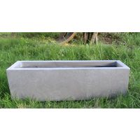 Window Box Light Concrete Grey Planter H20 L60 W20 cm by Idealist Lite