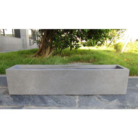 Window Box Light Concrete Grey Planter H20 L80 W20 cm by Idealist Lite