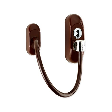 WINDOW RESTRICTOR - BROWN