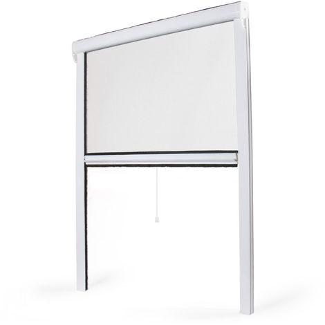 Window roller fly screen - PVC - W800mm x H1300mm - White