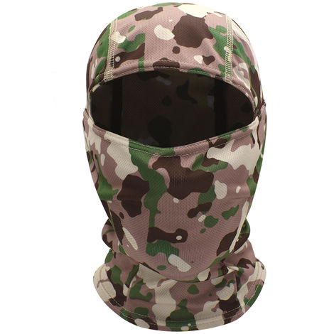 Windproof Full Face Mask Balaclava Hood Hunting Cycling Motorcycle Helmet Liner Headwear, Pink Camouflage