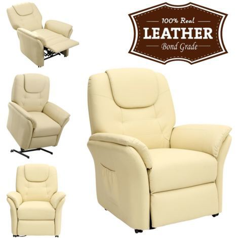 WINDSOR ELECTRIC RISE RECLINER REAL LEATHER ARMCHAIR - different colors available