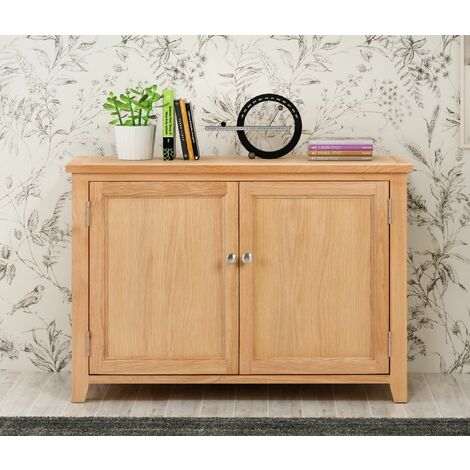 Windsor Oak Shoes Storage Cabinet in Light Oak Finish |12 Pairs | Solid Wooden Cupboard / Organiser