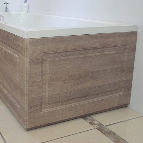 Windsor Traditional Oak 800mm End Bath Panel with Plinth