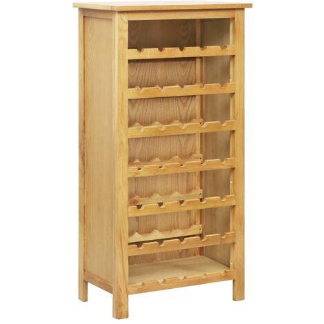Wine Cabinet 56x32x110 cm Solid Oak Wood