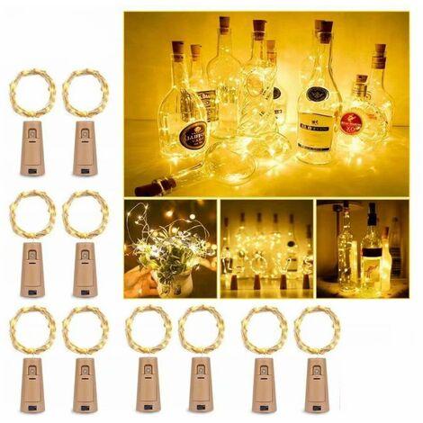 Wine cork lamp decorative lantern LED copper wire light garland 6 meters 60 light light lights