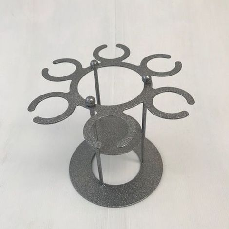 Wine Holder Table Top Silver