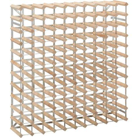 Wine Rack for 120 Bottles Solid Pinewood