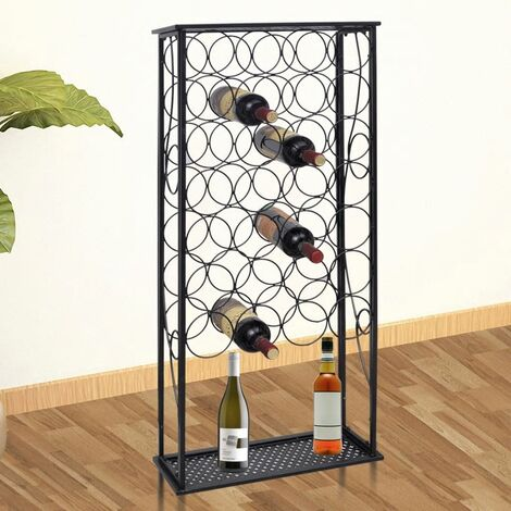 Wine Rack for 28 Bottles Metal