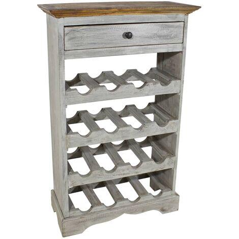 Wine Rack Solid Reclaimed Wood 55x23x85 cm