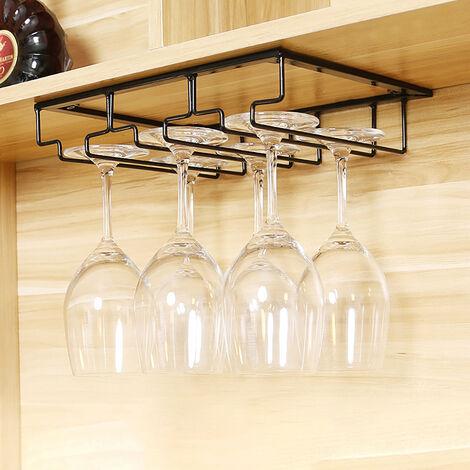 Wine Racks Bottle Glass Holder Kitchen Bottles Organizer Hanging Storage Shelf