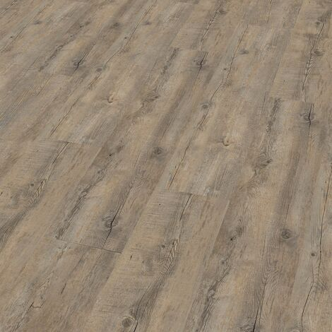 "Wineo 400 Wood | Lame PVC clipsable ""Embrace Oak Grey"" - 121,2 x 18,7 cm"