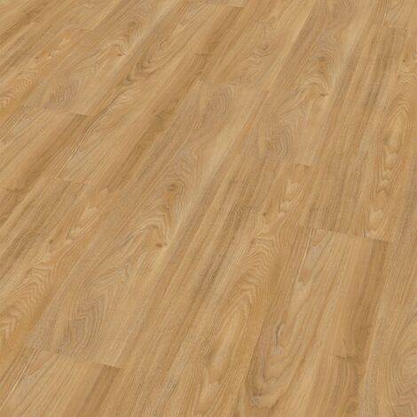 "Wineo 400 Wood | Lame PVC clipsable ""Summer Oak Golden"" - 121,2 x 18,7 cm"