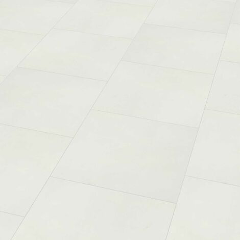 "Wineo 800 Tile L | Dalle PVC à coller ""Solid White"" - 45,72 x 45,72 cm"